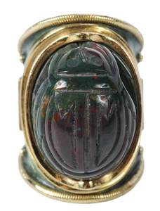 Elizabeth Gage 18kt. Scarab Ring
