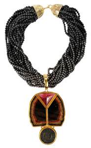 Elizabeth Gage 18kt. Gemstone Necklace