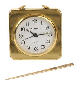 Tiffany & Co. Travel Alarm Clock and Toothpick