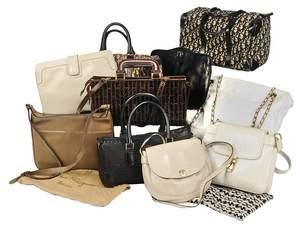 Ten Vintage Ladies Hand Bags/Gucci/Dior