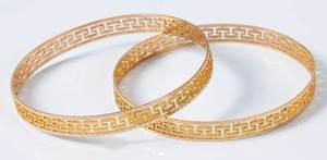 Pair 14kt. Bangle Bracelets