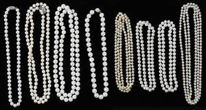 Eight Pearl Necklaces