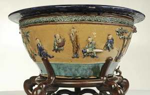 Large Chinese Ceramic Basin on Stand