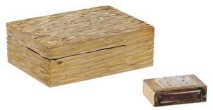 Gilt Sterling Tiffany Box and Farmer Matchbox