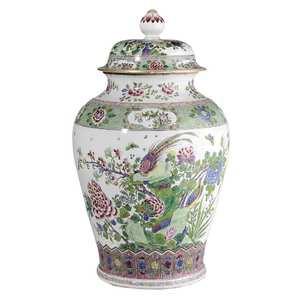 Monumental Famille Rose Porcelain Lidded Jar
