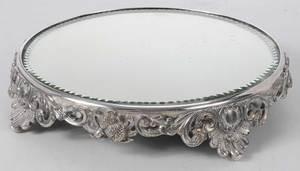 Mirrored Silver-Plate Plateau