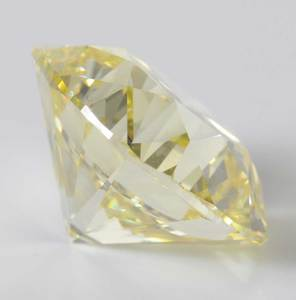 Platinum, 8.15ct. Fancy Yellow Diamond Ring