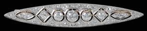 Antique Platinum, 18kt, & Diamond Brooch