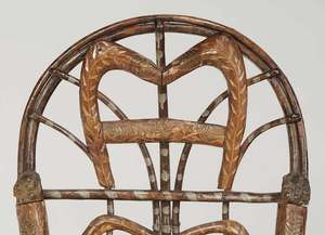 Rustic Chip Carved Child'sRocking Chair