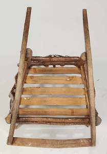 Rustic Chip Carved Child's Rocking Chair