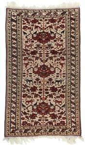 Ivory Field Persian Mat