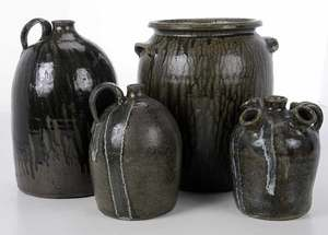 Four Pieces of Hewell Pottery
