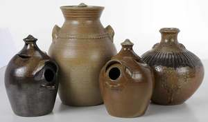 Four Pieces of Owens Pottery