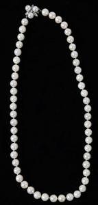 14kt. Pearl & Diamond Necklace