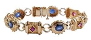 14kt. Sapphire & Ruby Bracelet