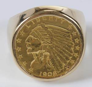 18kt. Liberty Coin Ring