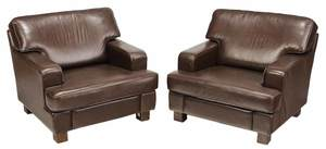 Pair Swedish Modern UpholsteredClub Chairs