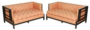 Pair James Mont Attributed Modern Love Seats