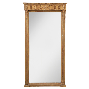 Regency Carved, Gessoed and Gilt Wood Mirror