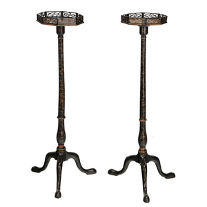 Pair Regency Japanned Stands