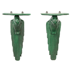 Pair Art Deco Style Eagle Form Wall Brackets