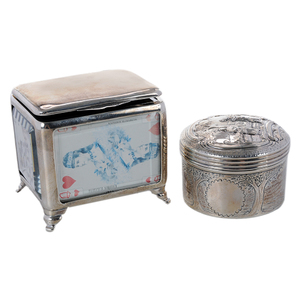 Two English Silver Boxes