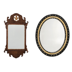 Two Mirrors, One George II Style, One Regency