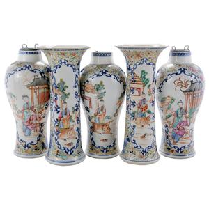 Five-Piece Chinese Export Porcelain Garniture