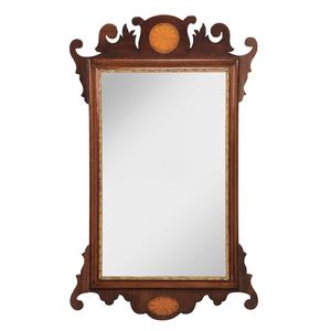 George III Inlaid Mahogany Mirror