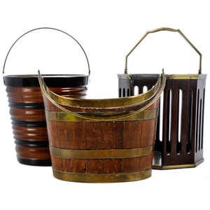 George III Style Dish Pail With Two Buckets