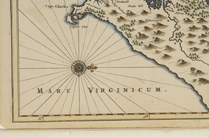Montanus - Nova Virginiae Tabula, Hand Colored