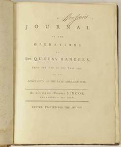 Simcoe - Operations of the Queen's Rangers
