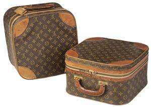 Pair of Louis Vuitton Soft Sided Cosmetic Cases