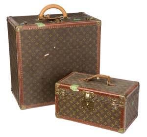 Two Louis Vuitton Travel Trunks