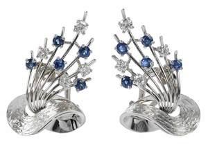 18kt. Diamond & Sapphire Earrings