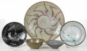 Five Elma Johnson Ceramic Dishes