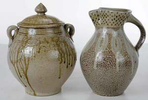Two Pieces of Mark Hewitt Pottery