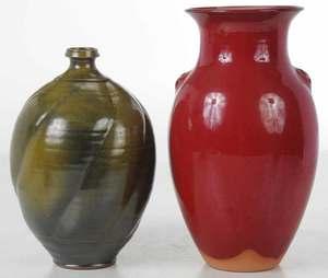 Two Pieces Ben Owen III Pottery