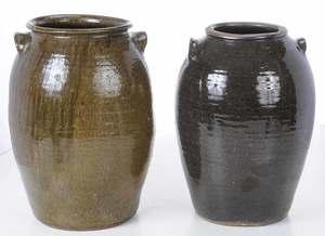 Two Large Catawba Valley Storage Jars