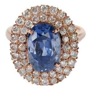 14kt. Sapphire & Diamond Ring