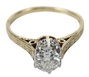 Antique Diamondi Solitaire Ring