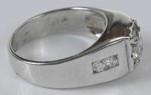 14kt. Diamond Gentleman's Ring