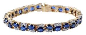 14kt. Sapphire & Diamond Bracelet