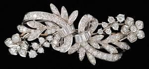 Tiffany & Co. Palladium & Diamond Brooch