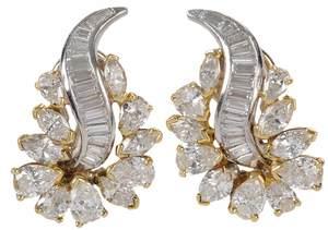 Platinum & 14kt. Diamond Earrings