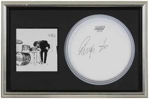 Ringo Starr Autographed Drum Cover