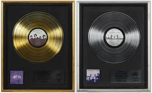 Two Framed Records, One Gold, One Platinum