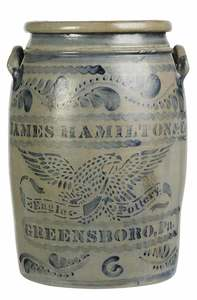 James Hamilton Stoneware Crock
