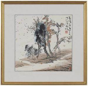 Group of Four Japanese Landscape Paintings