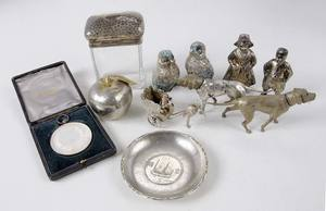 Eleven Silver Table Items